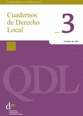 Cuadernos de Derecho Local nº 3