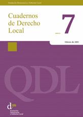 Cuadernos de Derecho Local nº 7