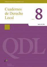 Cuadernos de Derecho Local nº 8