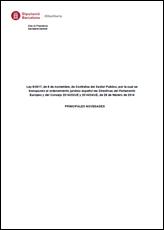 Documento sobre las principales novedades de la Ley de Contratos del Sector Público