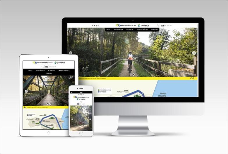 Vías Verdes de Girona y Pirinexus estrenan una nueva web, más accesible