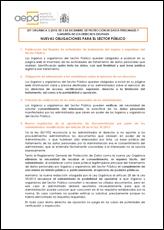 LEY ORGÁNICA3/2018, DE 5 DE DICIEMBRE, DE PROTECCIÓN DE DATOS PERSONALES Y GARANTÍA DE LOS DERECHOS DIGITALES. NUEVAS OBLIGACIONES PARA EL SECTOR PÚBLICO