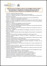ARTÍCULOS DE LA LEY ORGÁNICA 3/2018, DE 5 DE DICIEMBRE, DE PROTECCIÓN DE DATOS PERSONALES Y GARANTÍA DE LOS DERECHOS DIGITALES DE ESPECIAL INCIDENCIA EN LAS ACTIVIDADES DE LAS ADMINISTRACIONES PÚBLICAS