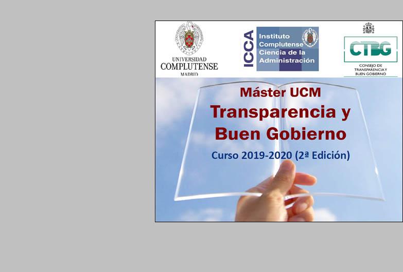 Convocado el Máster en Transparencia y Buen Gobierno (2.ª Edición)
