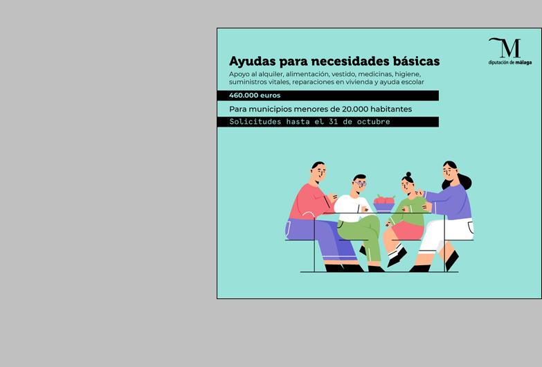 Las familias de la provincia con menos recursos ya pueden solicitar las ayudas que la Diputación de Málaga destina para cubrir necesidades básicas