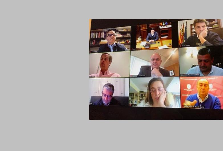 Videoconferencia de Manuel Baltar con presidentes de gobiernos provinciales de España para poner en valor las iniciativas frente a la crisis del coronavirus