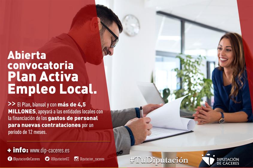 Abierta la convocatoria del Plan Activa Empleo Local ...